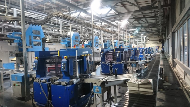 Electrical Installation Condition Report at newspaper printing facility Sheffield