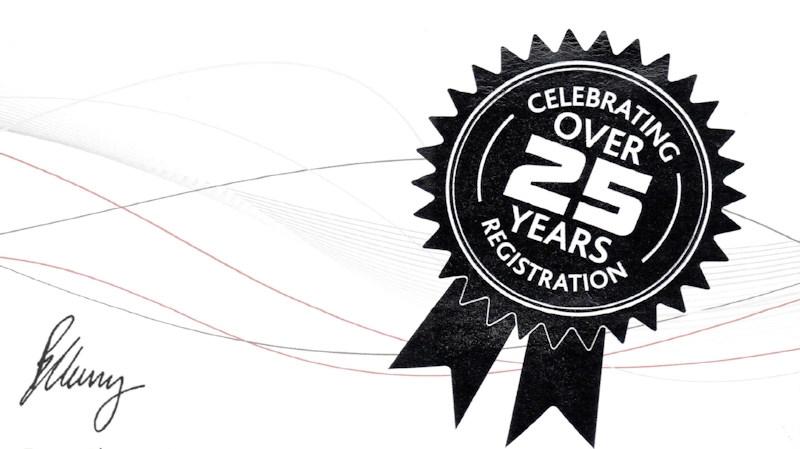 25 Years NICEIC Membership Awarded to Techniserve Ltd